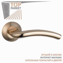 Ручка дверная на круглой накладке Pratico A-09-10 Матовое золото