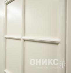Дверь остекленная Турин фрезерованное эмаль белая решетка 1