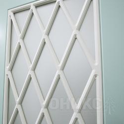 Дверь остекленная Турин фрезерованное эмаль по RAL решетка 4