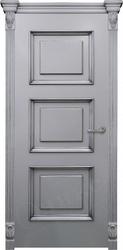 Дверь милан RAL 7040 с контурной патиной