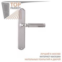 Ручка дверная на пластине Ranja 290/131 Полированный хром