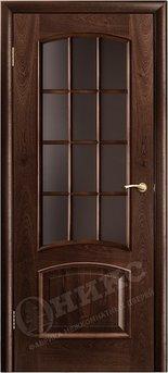Дверь Остекленная Прага Палисандр Решетка