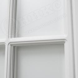 Межкомнатная дверь Оникс Турин Белая Эмаль с текстурой фрезированная решетка №2