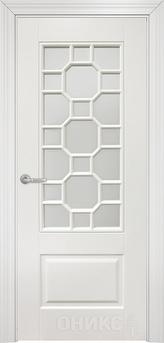 Дверь остекленная Марсель фрезерованное эмаль белая