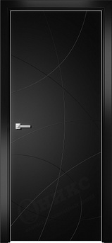 Дверь Арт стекло Lacobel RAL 9005 рисунок 6 гравировка