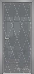 Дверь Арт стекло Lacobel RAL 7040 рисунок 11 гравировка