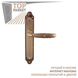 Ручка дверная на пластине Roma 281/158 Матовая бронза