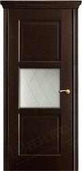 Дверь остекленная квадро венге с объемной филенкой