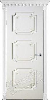 Дверь Валенсия фрезерованное эмаль белая с росписью