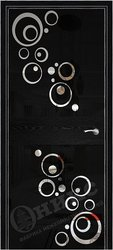Дверь Соло 2 Черная эмаль патина рисунок Круги
