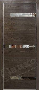 Дверь Силуэт орех тангентальный с зеркалом