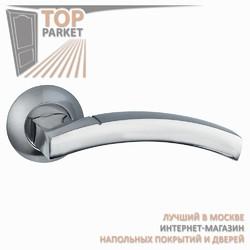 Ручка дверная на круглой накладке Solido A-37-10 Матовый хром