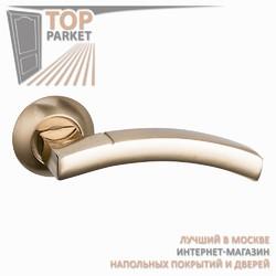 Ручка дверная на круглой накладке Solido A-37-10 Матовое золото