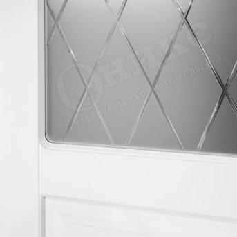 Дверь остекленная Версаль фрезерованное эмаль белая