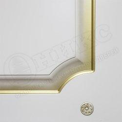 Межкомнатная дверь Оникс Валенсия Фреза Белая эмаль золото