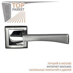 Ручка дверная на квадратной накладке Stricto A-16-30 Матовый хром