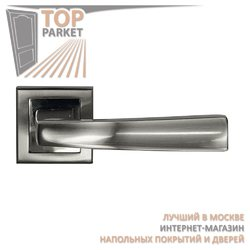 Ручка дверная на квадратной накладке Stricto A-51-30 Матовый хром