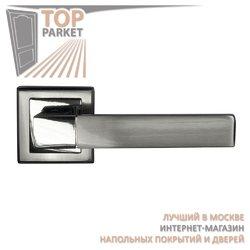 Ручка дверная на квадратной накладке Stricto A-67-30 Матовый хром