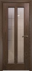 Дверь остекленная лагуна орех тангентальный