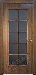 Дверь остекленная турин орех