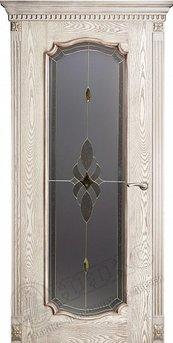 Дверь остекленная Венеция 2 Патина Витраж Бевелс