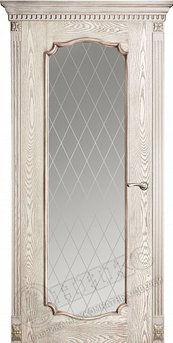 Дверь остекленная Венеция 2 Патина