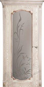 Дверь остекленная Венеция 2 Патина пескоструйная обработка