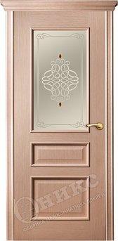 Дверь остекленная Версаль Дуб беленый Фьюзинг