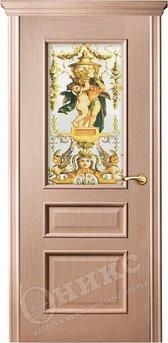 Дверь остекленная Версаль Дуб беленый Фотопринт