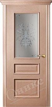 Дверь остекленная Версаль Дуб беленый печать на сатинате