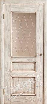 Дверь остекленная Версаль Патина