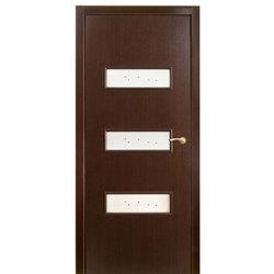 Межкомнатная дверь Оникс Виктория со стеклом