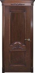 Межкомнатная дверь Оникс Византия красное дерево черная патина