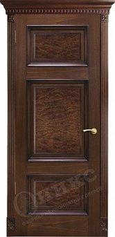 Дверь Прованс Красное дерево черная патина вставка корень