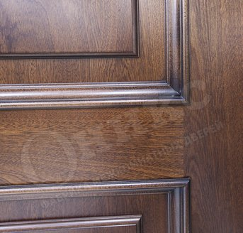 Дверь Марсель Красное дерево патина