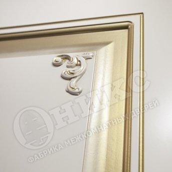 Дверь Рада фрезерованное эмаль слоновая кость фреза с декором