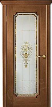 Дверь остекленная Палермо 2 орех витраж