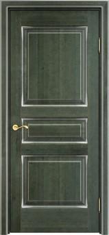 Дверь ОЛ 5 Зеленый патина серебро микрано