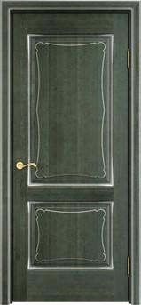 Дверь ОЛ 6.2 Зеленый патина серебро микрано