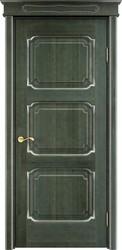 Дверь ОЛ 7.3 Зеленый патина серебро микрано