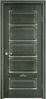 Дверь ОЛ 44 Зеленый патина серебро микрано