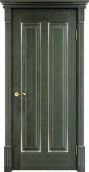 Межкомнатная дверь Итальянская легенда Ольха 102 Зеленый+патина серебро микрано