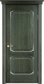 Дверь ОЛ 7.2 Зеленый патина серебро микрано
