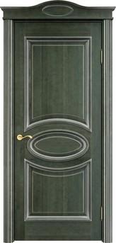 Дверь ОЛ 26 Зеленый патина серебро микрано