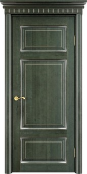 Дверь ОЛ 55 Зеленый патина серебро микрано