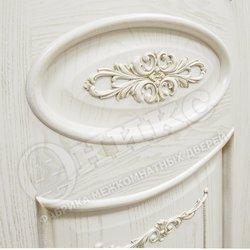 Дверь Эллипс с Декором патина золото