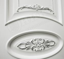 Дверь Эллипс с Декором белая эмаль